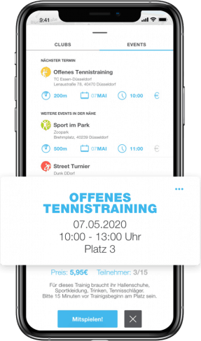Offenes Tennistraining PLAYSPORTS