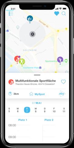Alle Sportangebote Düsseldorfs in einer App
