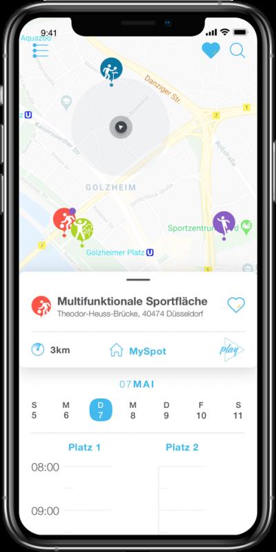 Sportangebote in Düsseldorf in einer App
